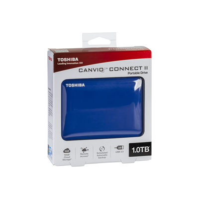Toshiba - CANVIO CONNECT II BLUE
