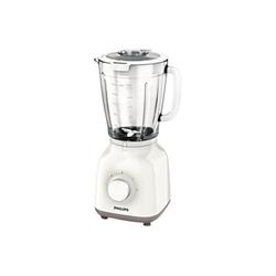 Mixeur Philips Daily Collection HR2105 - Bol mixeur blender - 1.5 litres - 400 Watt - beige/blanc
