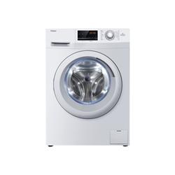 Lave-linge Haier HW70-14636 - Machine à laver - pose libre - largeur : 59.5 cm - profondeur : 51 cm - hauteur : 84.5 cm - chargement frontal - 45 litres - 7 kg - 1400 tours/min - blanc