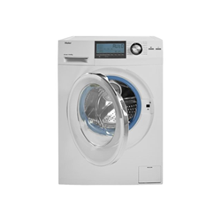 Lave-linge Haier Intelius 500 - Machine à laver - pose libre - largeur : 59.5 cm - profondeur : 65 cm - hauteur : 84.5 cm - chargement frontal - 8 kg - 1600 tours/min - blanc