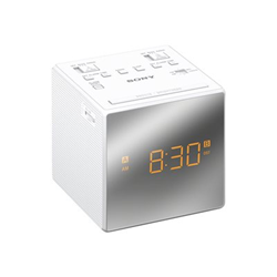 Radio Sony ICF-C1T - Radio-réveil - 100 mW - blanc