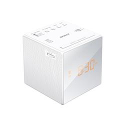 Radio Sony ICF-C1 - Radio-réveil - blanc
