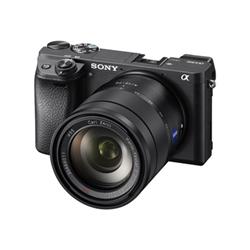 Appareil photo Sony a6300 ILCE-6300 - Appareil photo numérique - sans miroir - 24.2 MP - APS-C - 4K / 30 pi/s - corps uniquement - Wi-Fi, NFC - noir