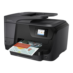 Imprimante  jet d'encre multifonction HP Officejet Pro 8715 All-in-One - Imprimante multifonctions - couleur - jet d'encre - A4 (210 x 297 mm), Legal (216 x 356 mm) (original) - A4/Legal (support) - jusqu'à 30 ppm (copie) - jusqu'à 35 ppm (impression) - 250 feuilles - USB 2.0, LAN, Wi-Fi(n), hôte USB