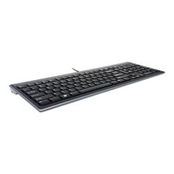 Clavier Kensington SlimType - Clavier - USB - Anglais - Royaume-Uni - noir