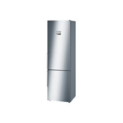 Réfrigérateur Bosch Serie 6 KGN39AI45 - Réfrigérateur/congélateur - pose libre - largeur : 60 cm - profondeur : 66 cm - hauteur : 203 cm - 366 litres - congélateur bas - Classe A+++ - inox