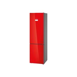 Réfrigérateur Bosch Serie 6 KGN39LR35 - Réfrigérateur/congélateur - pose libre - largeur : 60 cm - profondeur : 66 cm - hauteur : 203 cm - 366 litres - congélateur bas - Classe A++ - rouge