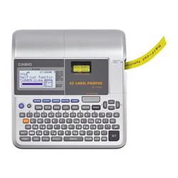 Étiqueteuse Casio KL 7400 - Étiqueteuse - deux couleurs (monochrome) - transfert thermique - Rouleau (2,4 cm) - 200 ppp - jusqu'à 10 mm/sec - Fonction copier & coller, Fonction de coupe pleine & moitié