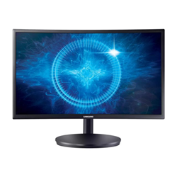 "Écran LED Samsung CFG7 Series C24FG70FQU - Écran LED - incurvé - 24"" (23.5"" visualisable) - 1920 x 1080 Full HD (1080p) - 350 cd/m² - 3000:1 - 1 ms - 2xHDMI, DisplayPort - mat noir"