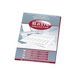 Copy Basic Megastar LP4MS - Étiquettes - papier - mat - adhésif permanent - blanc - 70 x 67.7 mm 1200 étiquette(s) (100 feuille(s) x 12)
