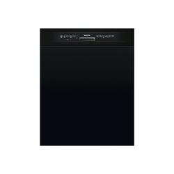 Lave-vaisselle Smeg LSP222NIT - Lave-vaisselle - pose libre - Niche - largeur : 60 cm - profondeur : 57.5 cm - hauteur : 82 cm - noir