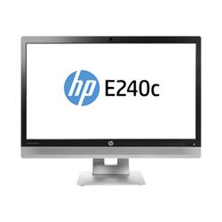 """Écran LED HP EliteDisplay E240c - Écran LED - 23.8"""" (23.8"""" visualisable) - 1920 x 1080 Full HD (1080p) - IPS - 250 cd/m² - 1000:1 - 7 ms - HDMI, VGA, DisplayPort - haut-parleurs - noir (cadre), argent (support), noir (couvercle du LCD)"""