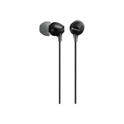 Oreillettes Sony MDR-EX15LP - EX Series - écouteurs - intra-auriculaire - jack 3.5mm - noir