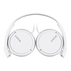 Sony MDR-ZX110AP - Casque avec micro - pleine taille - jack 3,5mm - blanc