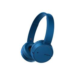 Sony MDR-ZX220BT - Casque avec micro - sur-oreille - sans fil - Bluetooth - NFC* - bleu