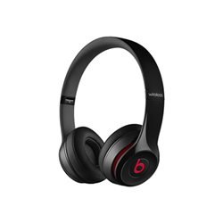 Beats Solo2 - Casque avec micro - sur-oreille - jack 3,5mm - noir - pour 12.9-inch iPad Pro; 9.7-inch iPad Pro; iPad (3rd generation); iPad 1; 2; iPad Air; iPad Air 2; iPad mini; iPad mini 2; 3; 4; iPad with Retina display; iPhone 3G, 3GS, 4, 4S, 5, 5c, 5s, 6, 6 Plus, 6s, 6s Plus, SE; iPod (4G, 5G); iPod classic; iPod mini; iPod nano; iPod shuffle; iPod touch