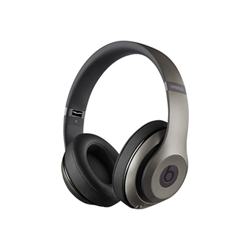 Beats Studio Wireless - Casque avec micro - pleine taille - sans fil - Bluetooth - Suppresseur de bruit actif - titane