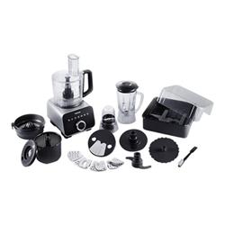 Robot de cuisine Panasonic MK-F800SXE - Robot multi-fonctions - 1000 Watt - noir / argent
