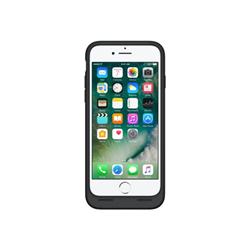 Coque Apple Smart - Boîtier de batterie coque de protection pour téléphone portable - silicone, élastomère - noir - pour iPhone 7