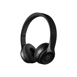 Beats Solo3 - Casque avec micro - sur-oreille - sans fil - Bluetooth - noir brillant - pour 12.9-inch iPad Pro; 9.7-inch iPad Pro; iPad (3rd generation); iPad 1; 2; iPad Air; iPad Air 2; iPad mini; iPad mini 2; 3; 4; iPad with Retina display (4th generation); iPhone 3G, 3GS, 4, 4S, 5, 5c, 5s, 6, 6 Plus, 6s, 6s Plus, 7, 7 Plus, SE; iPod classic; iPod nano; iPod shuffle; iPod touch; Watch