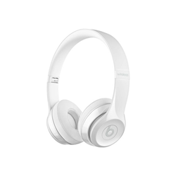 Beats Solo3 - Casque avec micro - sur-oreille - sans fil - Bluetooth - blanc brillant - pour 12.9-inch iPad Pro; 9.7-inch iPad Pro; iPad (3rd generation); iPad 1; 2; iPad Air; iPad Air 2; iPad mini; iPad mini 2; 3; 4; iPad with Retina display (4th generation); iPhone 3G, 3GS, 4, 4S, 5, 5c, 5s, 6, 6 Plus, 6s, 6s Plus, 7, 7 Plus, SE; iPod classic; iPod nano; iPod shuffle; iPod touch; Watch