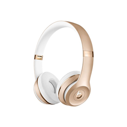Beats Solo3 - Casque avec micro - sur-oreille - sans fil - Bluetooth - or - pour 12.9-inch iPad Pro; 9.7-inch iPad Pro; iPad (3rd generation); iPad 1; 2; iPad Air; iPad Air 2; iPad mini; iPad mini 2; 3; 4; iPad with Retina display (4th generation); iPhone 3G, 3GS, 4, 4S, 5, 5c, 5s, 6, 6 Plus, 6s, 6s Plus, 7, 7 Plus, SE; iPod classic; iPod nano; iPod shuffle; iPod touch; Watch