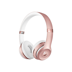 Beats Solo3 - Casque avec micro - sur-oreille - sans fil - Bluetooth - rose gold - pour 12.9-inch iPad Pro; 9.7-inch iPad Pro; iPad (3rd generation); iPad 1; 2; iPad Air; iPad Air 2; iPad mini; iPad mini 2; 3; 4; iPad with Retina display (4th generation); iPhone 3G, 3GS, 4, 4S, 5, 5c, 5s, 6, 6 Plus, 6s, 6s Plus, 7, 7 Plus, SE; iPod classic; iPod nano; iPod shuffle; iPod touch; Watch