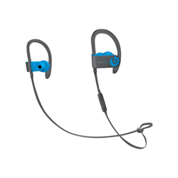 Beats Powerbeats3 - �couteurs avec micro - intra-auriculaire - montage sur l'oreille - sans fil - Bluetooth - isolation acoustique - bleu flash - pour 12.9-inch iPad Pro; 9.7-inch iPad Pro; iPad mini; iPad mini 2; 4; iPhone 6s, 7, SE