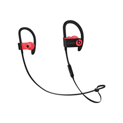 Beats Powerbeats3 - �couteurs avec micro - intra-auriculaire - montage sur l'oreille - sans fil - Bluetooth - isolation acoustique - rouge sir�ne - pour 12.9-inch iPad Pro; 9.7-inch iPad Pro; iPad mini; iPad mini 2; 4; iPhone 6s, 7, SE
