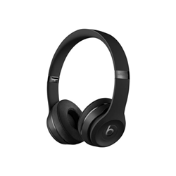 Beats Solo3 - Casque avec micro - sur-oreille - sans fil - Bluetooth - noir - pour 12.9-inch iPad Pro; 9.7-inch iPad Pro; iPad (3rd generation); iPad 1; 2; iPad Air; iPad Air 2; iPad mini; iPad mini 2; 3; 4; iPad with Retina display (4th generation); iPhone 3G, 3GS, 4, 4S, 5, 5c, 5s, 6, 6 Plus, 6s, 6s Plus, 7, 7 Plus, SE; iPod classic; iPod nano; iPod shuffle; iPod touch; Watch