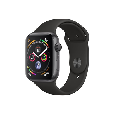Apple - £S4 GPS44 SG  BLACK SPORT BAND