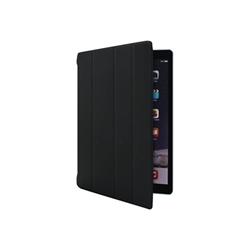 Coque Muvit Smart Stand - Protection à rabat pour tablette - polyuréthane, polycarbonate - noir - pour Apple 12.9-inch iPad Pro