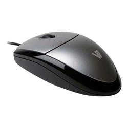 Mouse V7 - V7 mouse optical blk/sil retail
