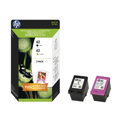 HP - HP 62 COMBO NERO/TRICROMIA