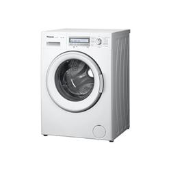 Lave-linge Panasonic NA-148VB6 - Machine à laver - pose libre - largeur : 59.7 cm - profondeur : 57.2 cm - hauteur : 84.5 cm - chargement frontal - 55 litres - 8 kg - 1400 tours/min - blanc