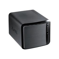 Serveur de stockage en réseau ZyXEL NAS542 - Dispositif de stockage personnel dans le nuage - 4 Baies - SATA 3Gb/s - RAID 0, 1, 5, 6, 10, JBOD, disque de réserve 5 - Gigabit Ethernet - iSCSI