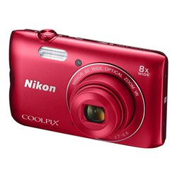 Fotocamera Coolpix a300 red iso - nikon - monclick.it