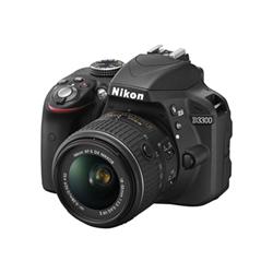 Fotocamera reflex D3300 kit 18-55 afp + 55-200 Nero- nikon - monclick.it