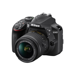 Fotocamera reflex D3400 kit 18-105 vr Nero- nikon - monclick.it