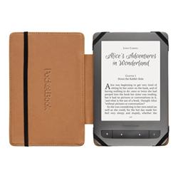 Coque PocketBook Light - Coque de protection pour lecteur eBook - cuir polyuréthane - noir, beige - pour PocketBook Touch 622