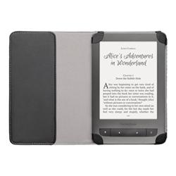 Coque PocketBook - Coque de protection pour lecteur eBook - polyuréthane - gris, noir, pois - pour PocketBook Touch, Touch Lux