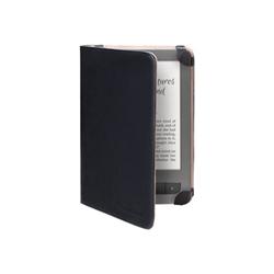 Coque PocketBook Gentle - Coque de protection pour lecteur eBook - polyuréthane - noir, beige - pour PocketBook Touch, Touch Lux