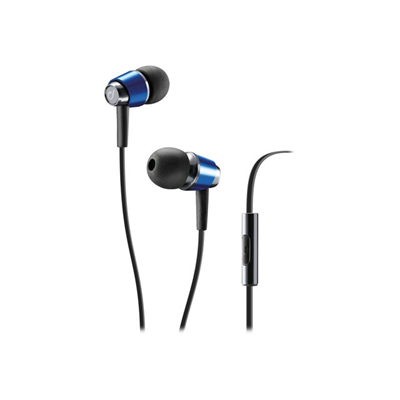 Cellular Line - AURICOLARE IN-EAR POP MICROFONO BLU