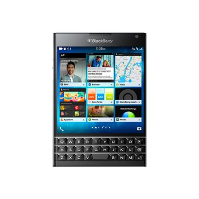 BlackBerry - BLACKBERRY PASSPORT BLACK 4.5IN