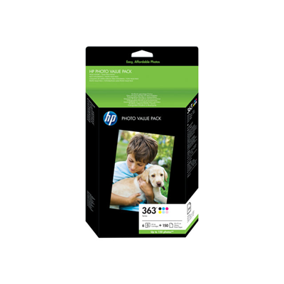 Kit Fotografico HP - HP 363 PHOTO PACK 10X15 150FG BL