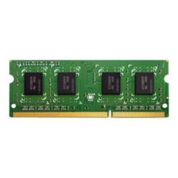 Barrette RAM QNAP - DDR3 - 4 Go - SO DIMM 204 broches - 1600 MHz / PC3-12800 - mémoire sans tampon - non ECC