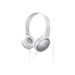 Panasonic RP-HF300ME - Casque avec micro - sur-oreille - jack 3,5mm - blanc