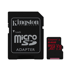 Micro SD Canvas react - scheda di memoria flash - 64 gb - uhs-i microsdxc sdcr/64gb