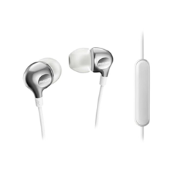Philips MyJam Vibes SHE3705WT - Écouteurs avec micro - intra-auriculaire - jack 3,5mm - isolation acoustique - blanc