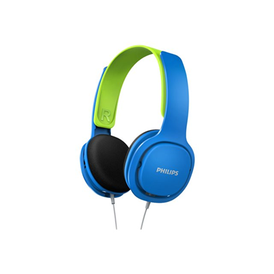 Philips - CUFFIA KIDS FASCIA BLU/GREEN